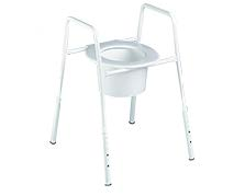 Overtoilet frame and seat raisers