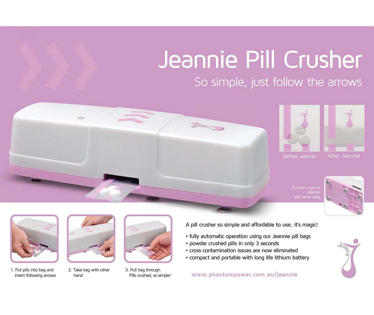 Electric Pill Grinder ~ Jeannie pill crusher gp medical